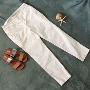 """OLD NAVY """"Pixie"""" White Pants Size 6R"""